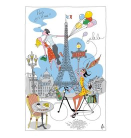 Torchons & Bouchons Tea Towel - Paris Girl