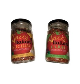 Oil & Vinegar 2Geaux Jazzy Italian Bruschetta Set - Original & Cajun