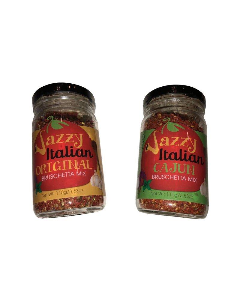 Oil & Vinegar 2Geaux Jazzy Italian Bruschetta Set - Original & Cajun