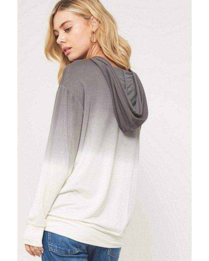 Ombre tie dye hoodie