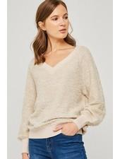 V-Neck Pullover Knit Sweater