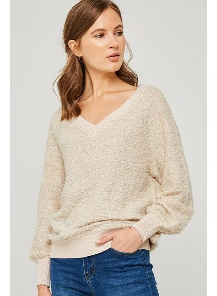 V-Neck Pullover Knit Sweater