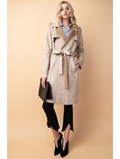 VEGAN SUEDE TRENCH COAT