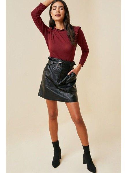 Belted Paperbag Mini Skirt