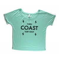 Third Coast Bolts Logo Mint Green