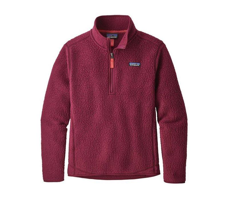 Patagonia W's Retro Pile 1/4 Zip Arrow Red