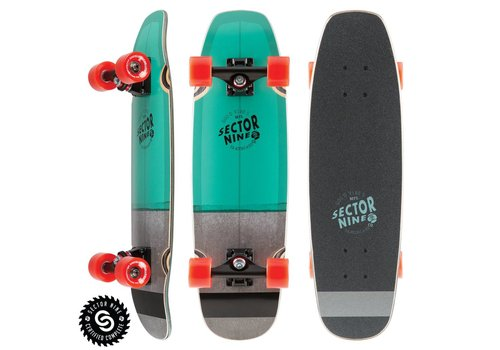 """Sector 9 Sector 9 Bat Ray Complete Teal 26.25"""" x 7.75"""""""