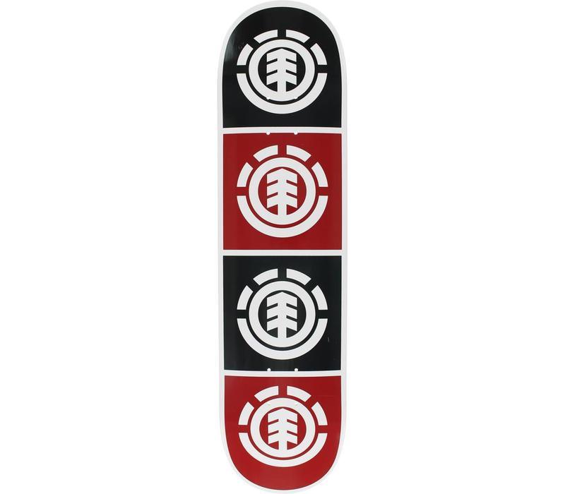 Element Quadrant Deck 8.0 White/Black/Red/White