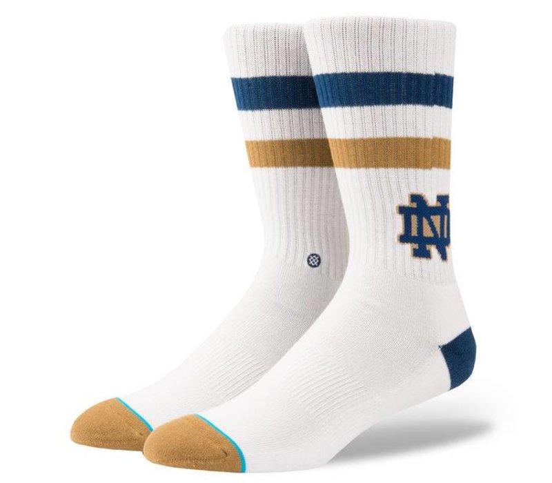 Stance Notre Dame White Large Socks