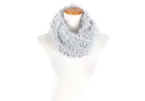 David & Young David & Young Cozy Plush Faux Fur Infinity Scarf Grey