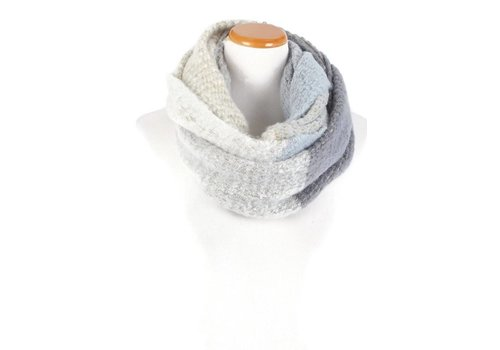David & Young David & Young Color Block Brushed Infinity Scarf Blue