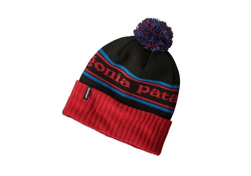 Patagonia Patagonia Powder Town Beanie Park Stripe: Tomato Black ALL