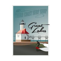 "Surf the Great Lakes 18"" x 24"" Poster"