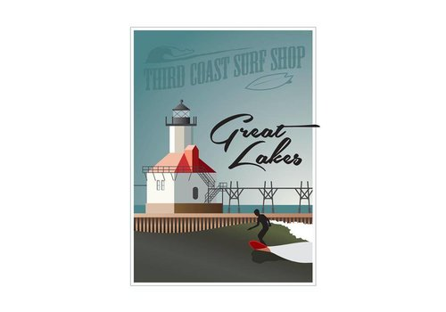 "Third Coast Surf the Great Lakes 18"" x 24"" Poster"
