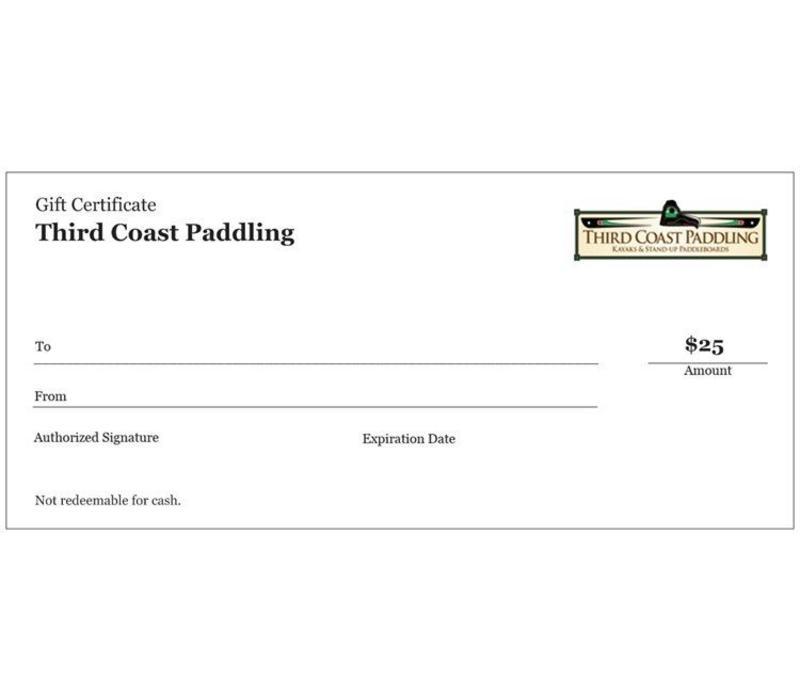 Third Coast Paddling $25 Gift Certificate