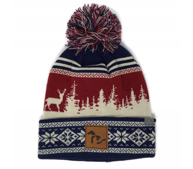Third Coast Beanie Treeline Elk Blue/Cream/Red
