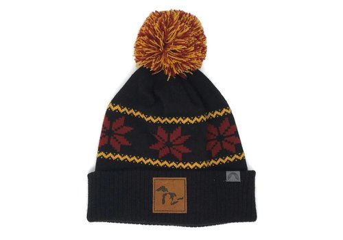 Third Coast Third Coast Beanie Fairisle Black/Orange/Red