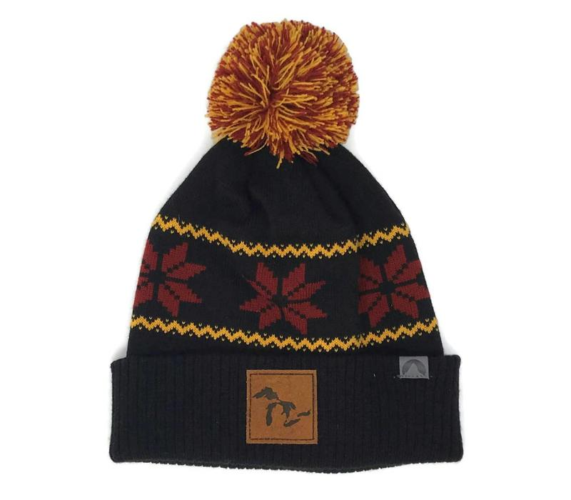 Third Coast Beanie Fairisle Black/Orange/Red
