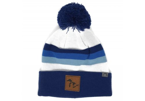 Third Coast Third Coast Beanie Horizon Navy/White/Blue