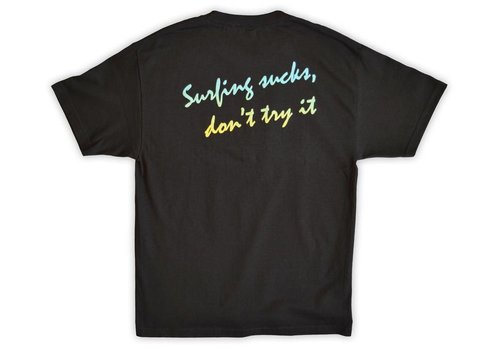 Kook of the Day Kook of the Day Surfing Sucks Tee Black