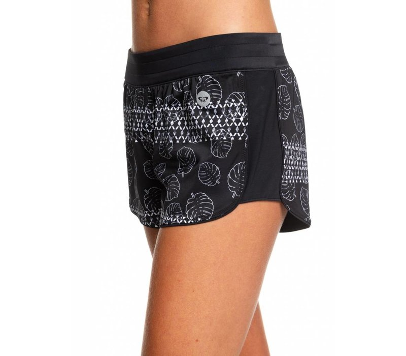 Roxy Island In The Sun Reversible Short Anthracite Geo Palms