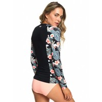 Roxy LS Fashion Rashguard Anthracite Tropicalababa