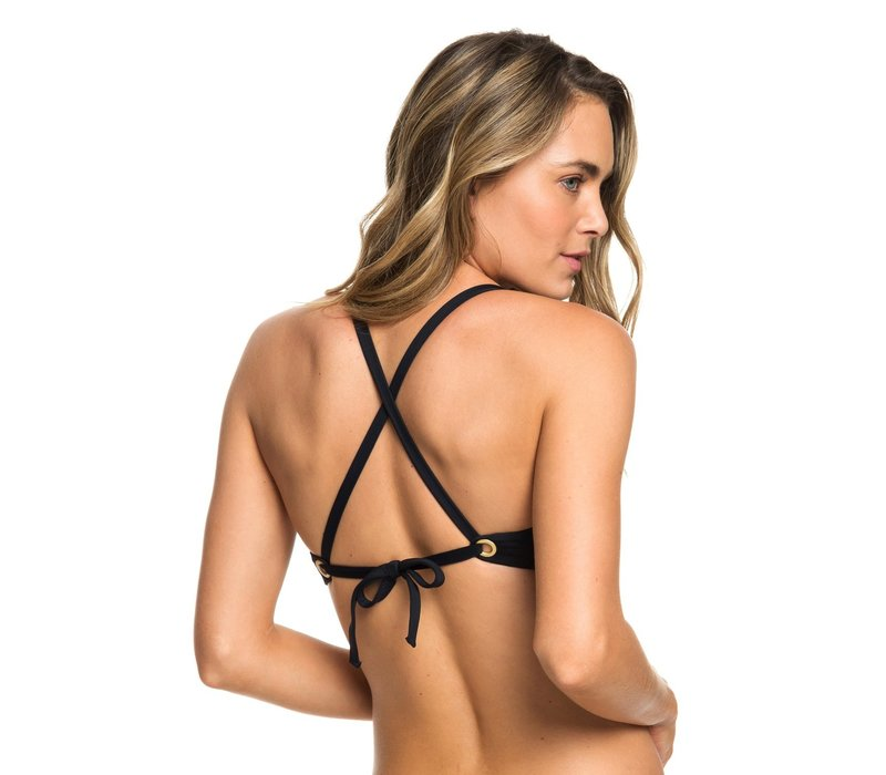 Roxy Beach Classics Fixed Triangle Bikini Top Black