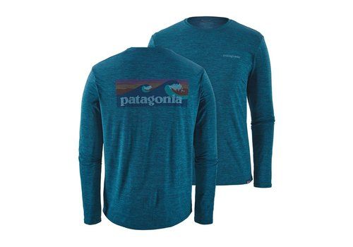 Patagonia Patagonia M's L/S Cap Cool Daily Graphic Shirt Big Sur Blue X-Dye