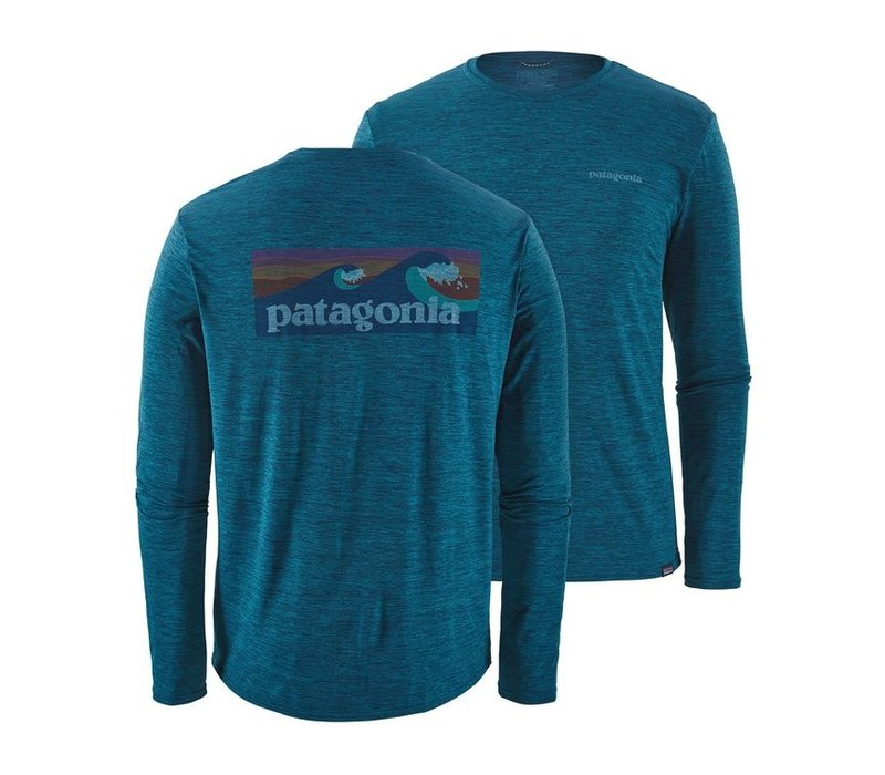 Patagonia M's L/S Cap Cool Daily Graphic Shirt Big Sur Blue X-Dye