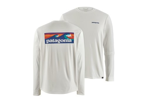 Patagonia Patagonia M's L/S Cap Cool Daily Graphic Shirt White