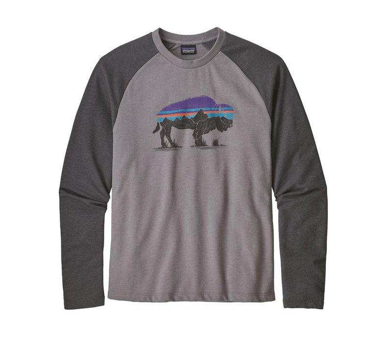 Patagonia M's Fitz Roy Bison LW Crew Sweatshirt Feather Grey