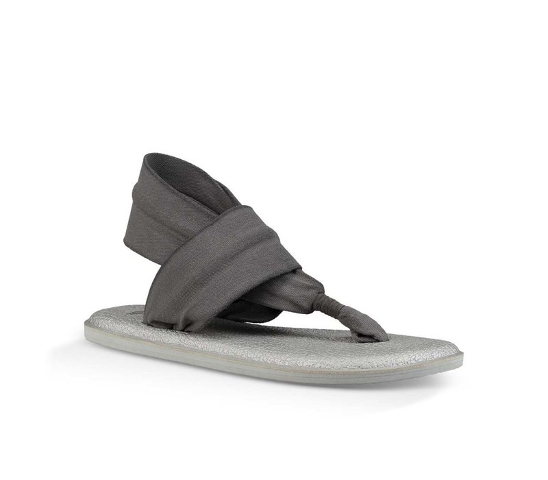 Sanuk Yoga Sling 2 Metallic LX Charcoal Metallic Silver