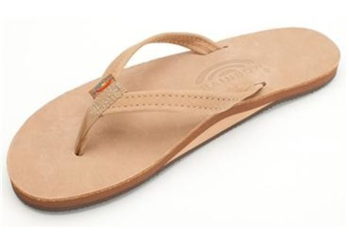 Rainbow Sandals Rainbow Premier Leather Sierra Brown Single Layer Arch Narrow Strap