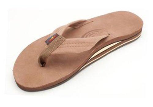 Rainbow Sandals Rainbow Premier Leather Dark Brown Double Layer  Arch