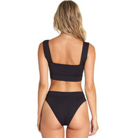 Billabong Sol Searcher Square Neck Top Black Pebble