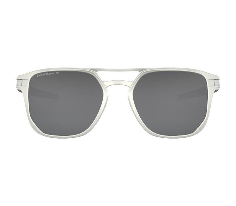 Oakley Latch Alpha Matte Silver w/Prizm Black Polarized