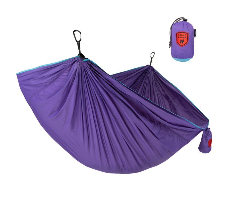 Grand Trunk Trunk Tech Double Hammock Aqua/Violet