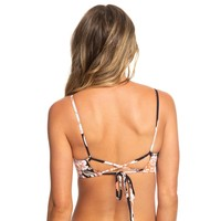 Roxy PT Beach Classics Tri Bralette Anthracite New Flowers