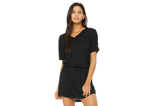 Third Coast Third Coast Black V-Neck Beach Dress