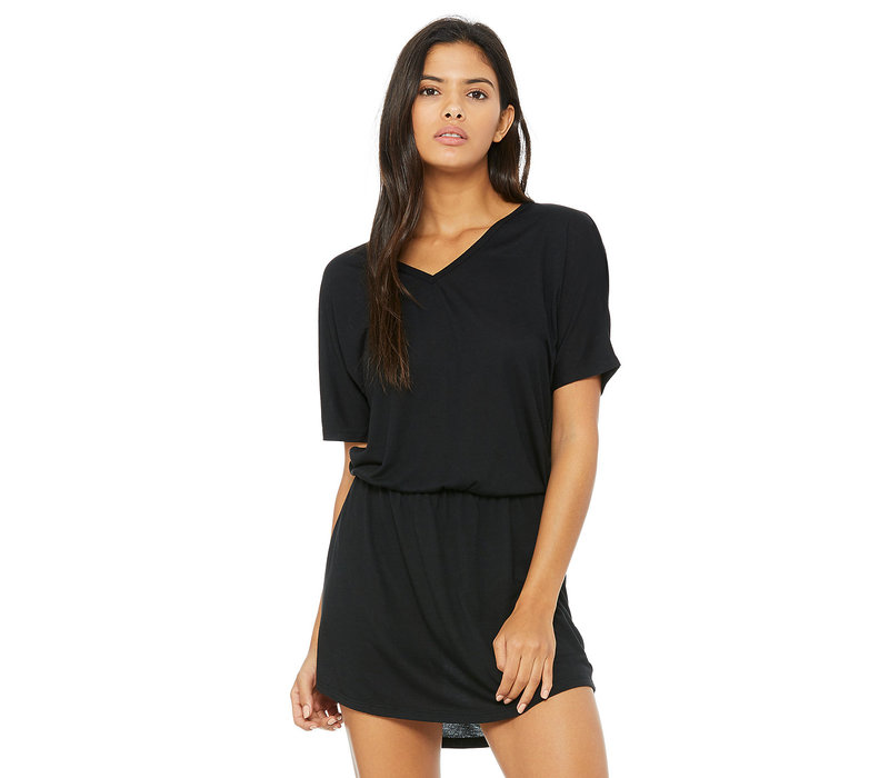 Third Coast Black V-Neck Beach Dress