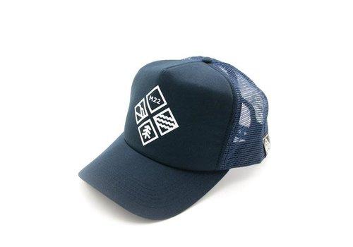 M22 M22 Adventure Icon Trucker Hat Navy