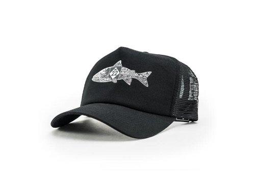 M22 M22 Fish Trucker Hat Black