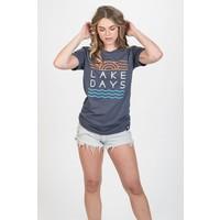 M22 Lake Days T-Shirt Heather Navy