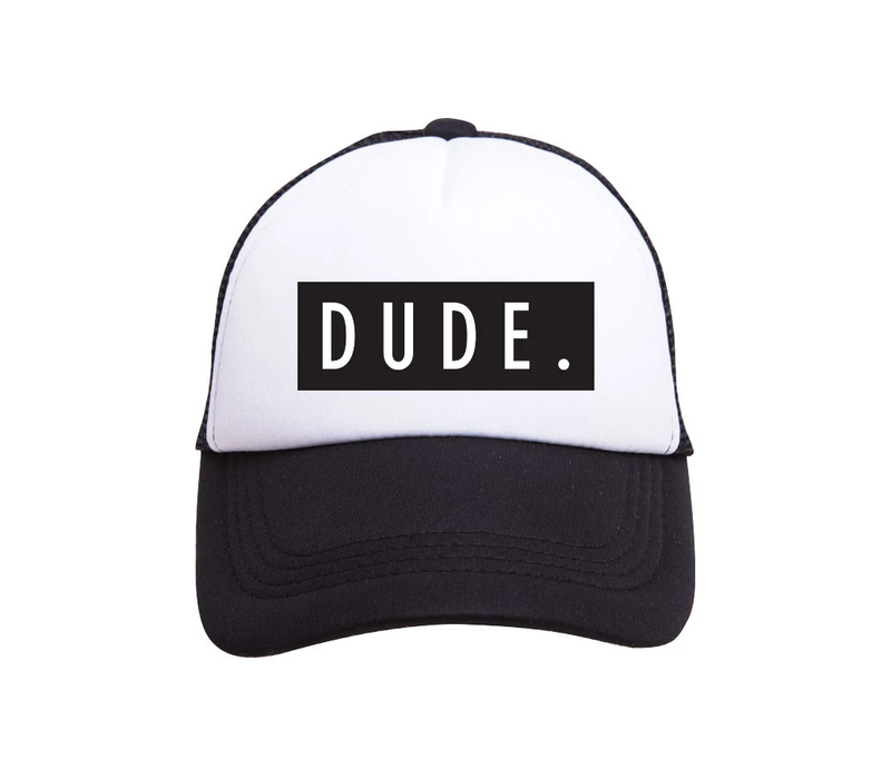 Tiny Trucker Youth Dude Hat Black White