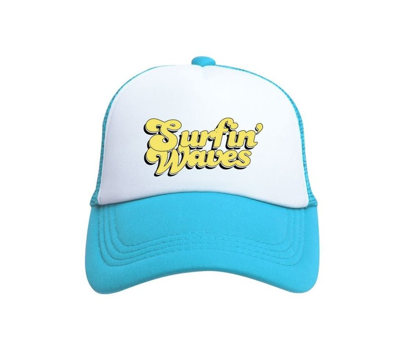 Tiny Trucker Baby Surfin' Waves Blue White