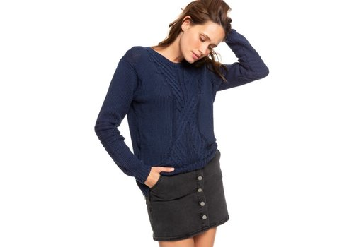 Roxy Roxy Glimpse of Romance Sweater Mood Indigo