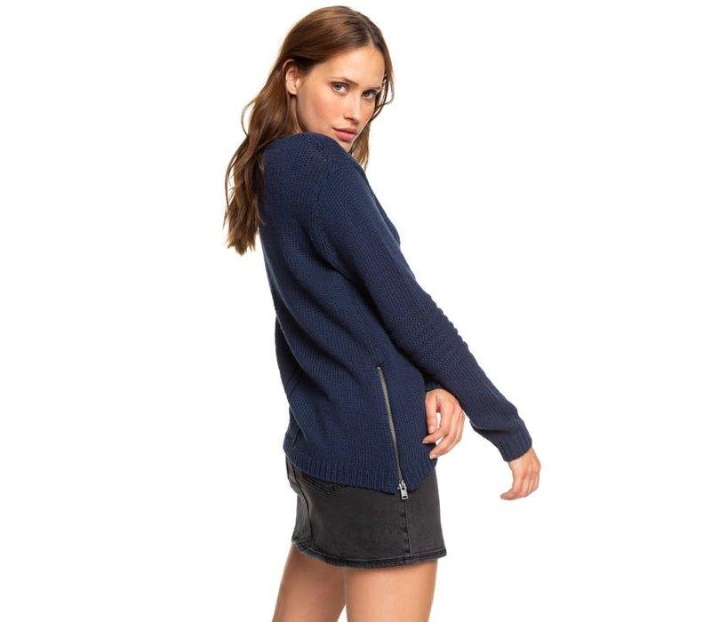 Roxy Glimpse of Romance Sweater Mood Indigo