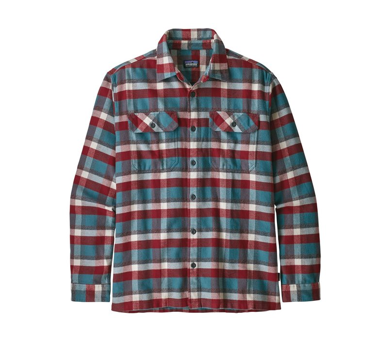 Patagonia M's L/S Fjord Flannel Shirt Observer Tasmanian Teal
