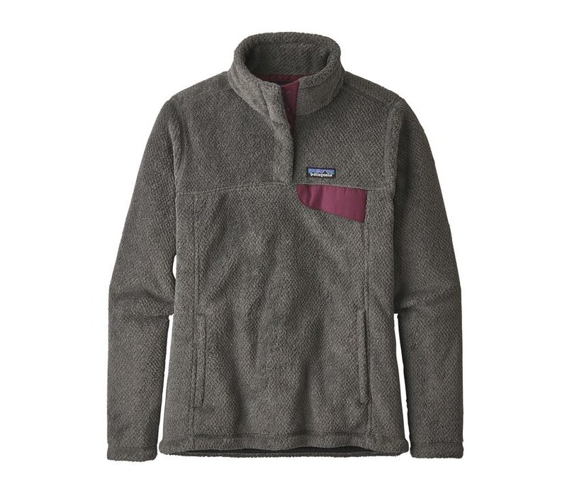 Patagonia W's Re-Tool Snap-T Pullover Feather Grey Ink Black XDye w/Light Balsamic