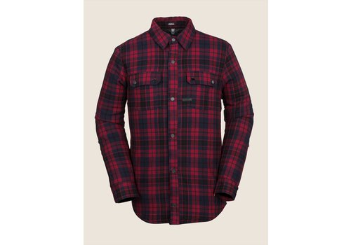 Volcom Volcom Sherpa Flannel Jacket Red